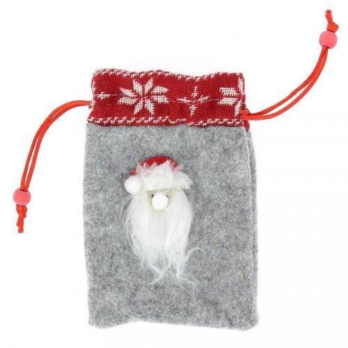 Gift Bag Piccola Babbo Natale (15 cm) - Feltro