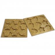 Stampo 9 Biscotti grandi di Natale da appendere