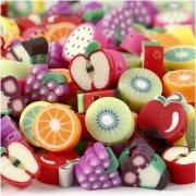 20 Frutta piatta perline (1 cm) - Polimero