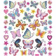 Foglio Adesivi Farfalle Fiorite