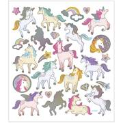 Foglio 27 Adesivi Unicorni