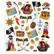 Foglio 31 Adesivi Pirati