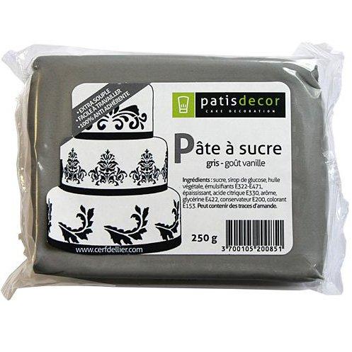Pasta di zucchero grigio Patisdécor 250g