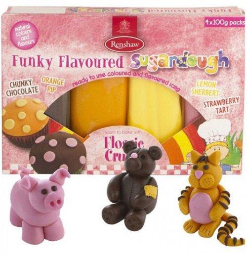 Confezione di pasta di zucchero colori funky