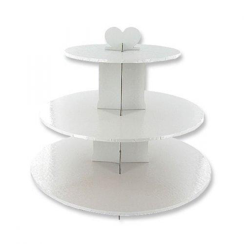 Espositore Cupcake Bianco Barocco