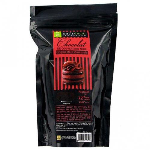 Compresse di cioccolato fondente 72% (250 g)