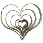 5 Tagliabiscotti cuore - Metallo