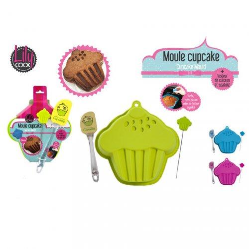 Stampo a forma di cupcake con accessori