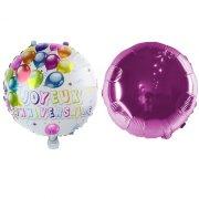 2 Palloncini Buon compleanno Double face Rosa (45 cm)