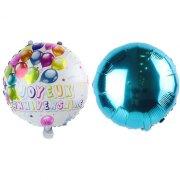 2 Palloncini Buon compleanno Double face Blu