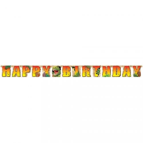 Ghirlanda lettere Happy Birthday Dino Relief