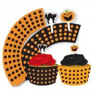 Kit 12 Wrapper e Decorazioni per cupcake Halloween