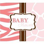 8 Inviti Baby Safari Rosa