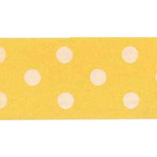 Nastro a pois bianco / giallo