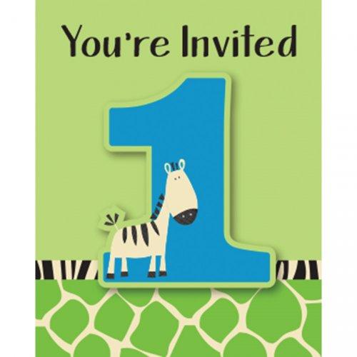 8 Inviti 1 anno Piccola zebra