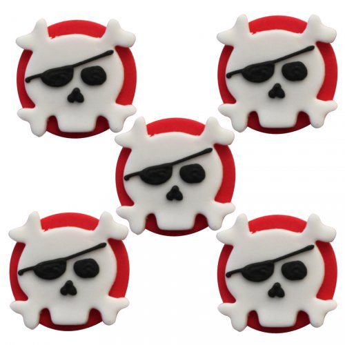 """5 Decorazioni in pasta di zucchero """"Pirata ribelle"""""""