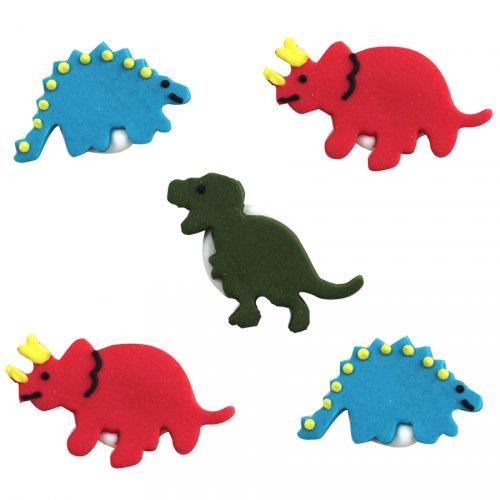 """5 Decorazioni in pasta di zucchero """"Dinosauro"""""""