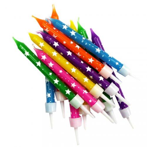 12 candele Stelle multicolore