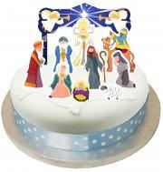 Set 10 Decorazioni per torte Presepe