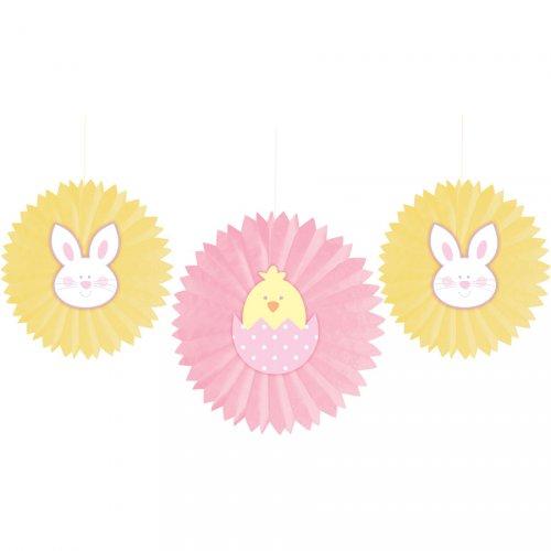 3 ventilatori decorativi di Pasqua