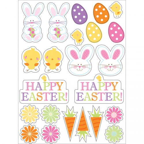 4 fogli adesivi di Pasqua
