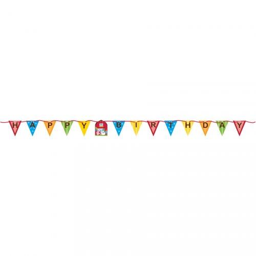 Ghirlanda bandierine Happy Birthday Happy Ferme