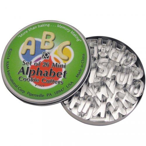 26 Tagliabiscotti Alfabeto mini