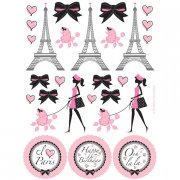 4 Stickers Boards Paris Chic