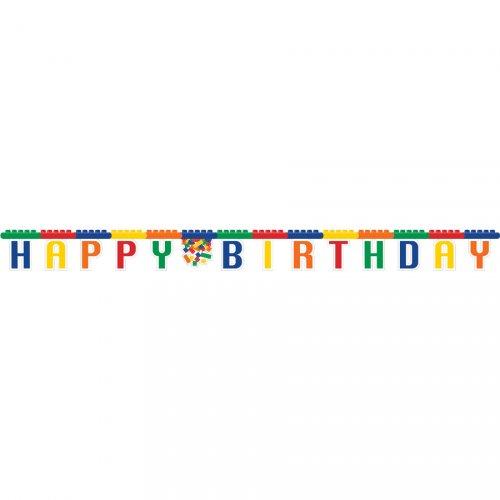 Ghirlanda lettere Happy Birthday Block Party