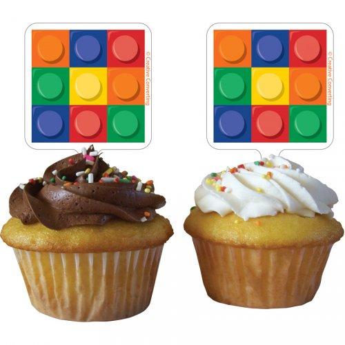 12 Stecchini per cupcake - Mattoncini