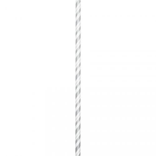 24 cannucce Vintage argento flessibili