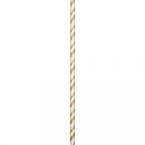 24 cannucce Vintage oro flessibili