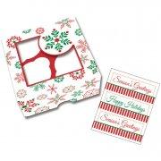 3 scatole per Cupcake e Biscotti Magia di Natale