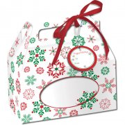 4 Scatole per cupcake Magia di Natale