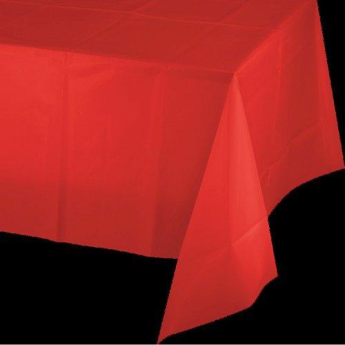 Tovaglia di plastica rossa