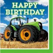 16 Tovaglioli Happy Birthday Big Trattore