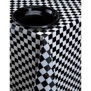 Tovaglia a scacchi nera e bianca Racing