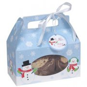 4 scatole per Cookies Pupazzo di neve