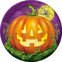 Contiene : 1 x 8 Piatti Halloween Pumpkin