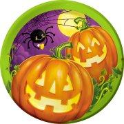 8 Piattini Halloween Pumpkin