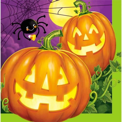 16 Tovaglioli Halloween Pumpkin