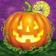 16 Tovagliolini Halloween Pumpkin