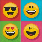 16 Tovaglioli Emoji Smiley