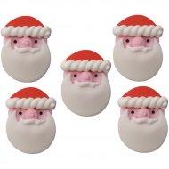 5 Decorazioni Testa Babbo Natale di zucchero