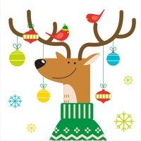 Contiene : 1 x 16 Tovagliolini Festa delle renne