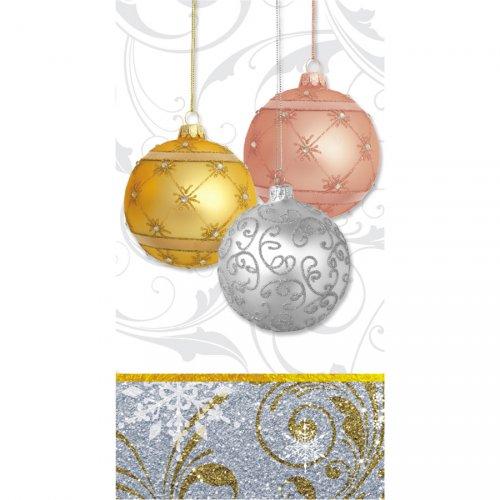 16 Tovaglioli rettangolari Natale scintillante