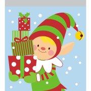 10 piccole tasche per torte Violoncello di Natale Torte per violoncello degli elfi di Natale