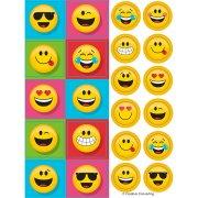 4 Emoji Smiley Smiley divertimento adesivi fogli adesivi