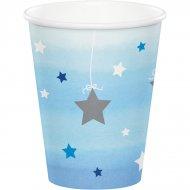 8 Bicchieri Little Star Baby Boy