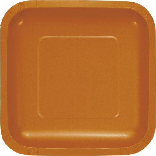18 Piattini Quadrati Arancioni Camel